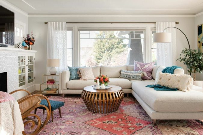 bohemian-living-rooms.-1-675x452 70+ Hottest Colorful Living Room Decorating Ideas in 2021