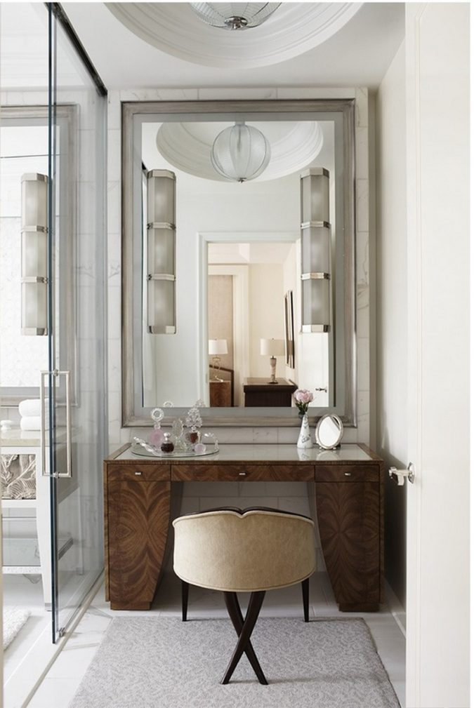 paneled-mirror-vanity.-2-675x1009 Hottest 50+ Stylish Makeup Vanity Ideas