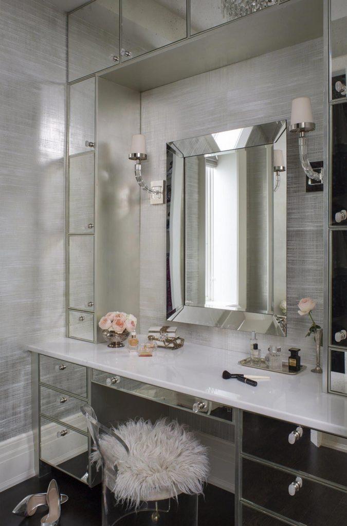 paneled-mirror-vanity..-675x1023 Hottest 50+ Stylish Makeup Vanity Ideas