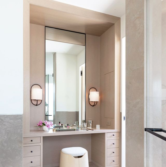 paneled-mirror-vanity. Hottest 50+ Stylish Makeup Vanity Ideas