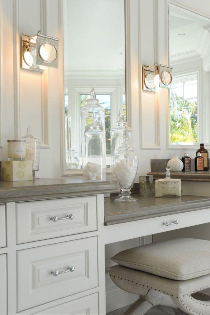 paneled-mirror.-675x1015 Hottest 50+ Stylish Makeup Vanity Ideas