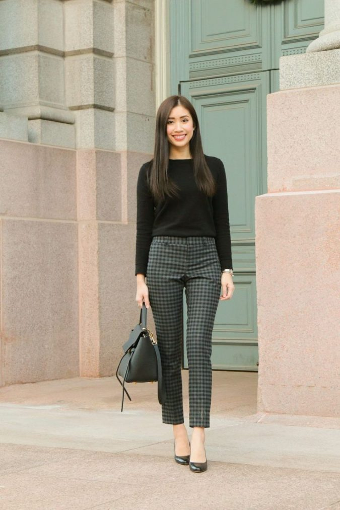 women-business-outfit-sweater-675x1013 What Women Should Wear for a Business Meeting [60+ Outfit Ideas]