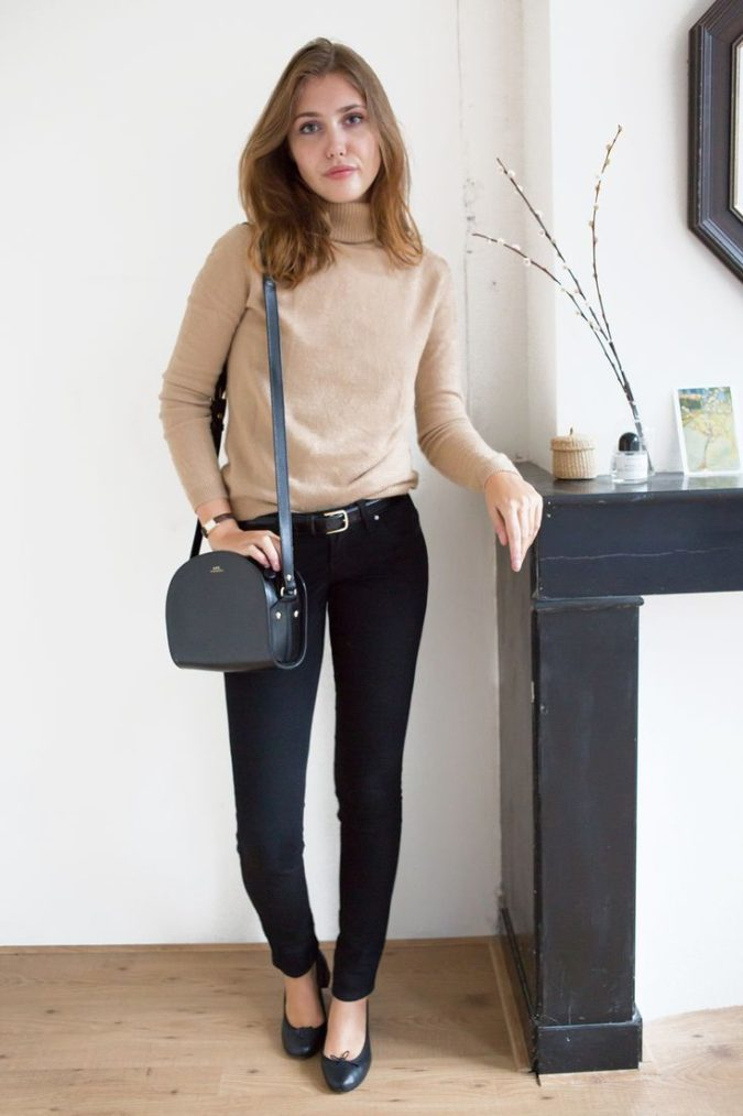 women-business-outfit-with-sweater-675x1013 What Women Should Wear for a Business Meeting [60+ Outfit Ideas]