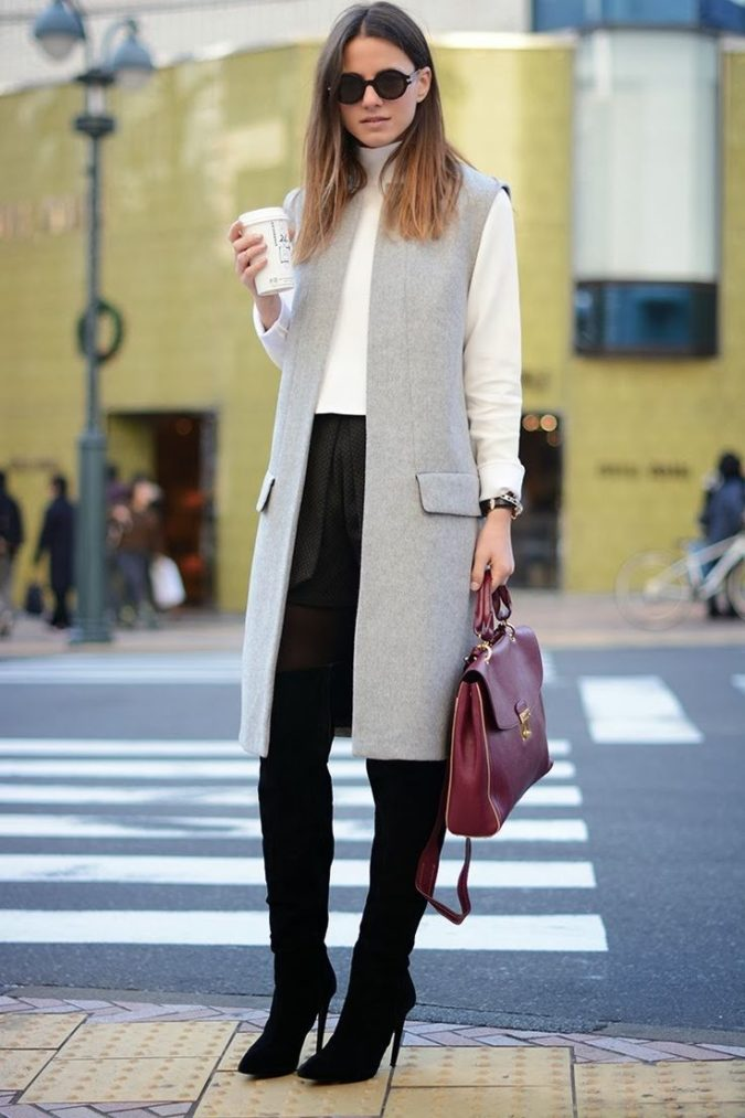 women-outfit-waist-coat-vest-675x1013 What Women Should Wear for a Business Meeting [60+ Outfit Ideas]