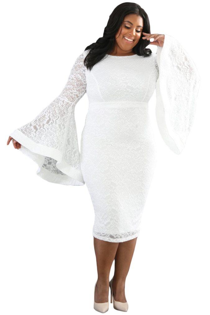 Bell-Sleeve-Dress-1-675x1011 120 Splendid Women's Outfits for Evening Weddings