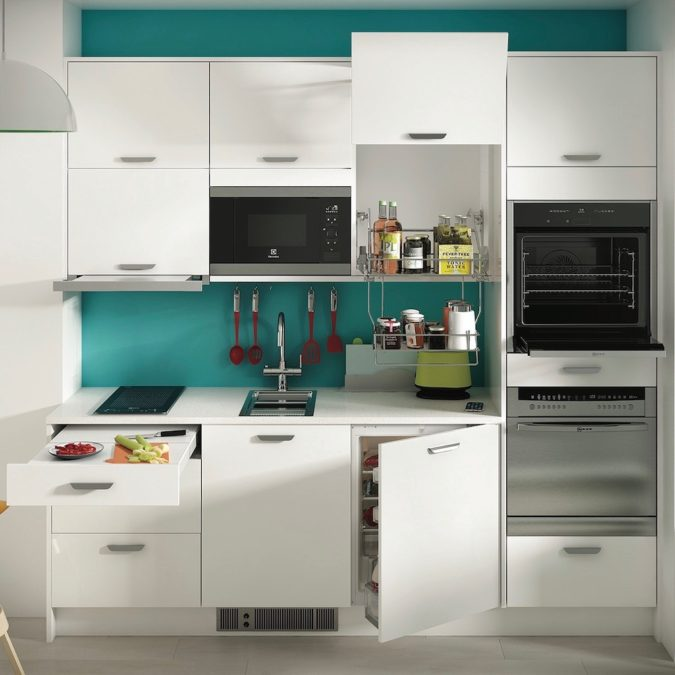 Built-in-items.-675x675 100+ Smartest Storage Ideas for Small Kitchens in 2021