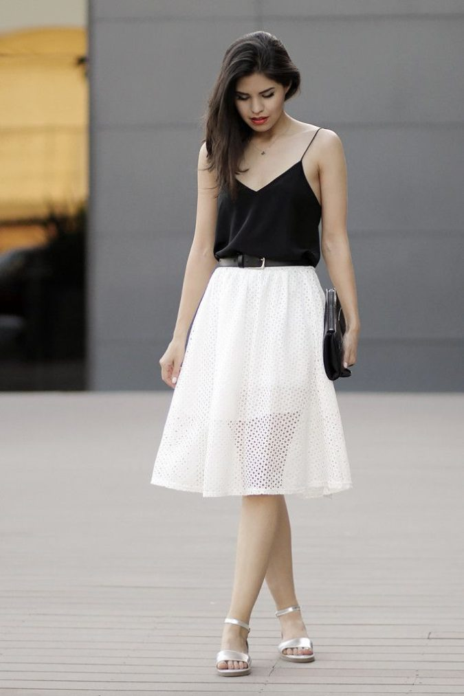 Camisole-and-a-skirt.-675x1013 140 First-Date Outfit Ideas That Make You Special
