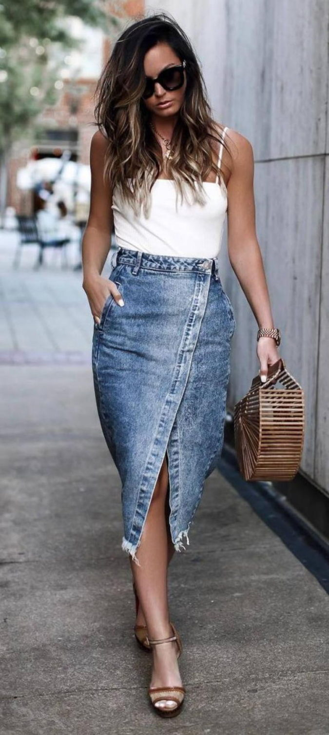 Camisole-and-a-skirt..-1-675x1508 140 First-Date Outfit Ideas That Make You Special