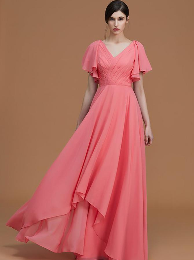 Chiffon-gown 120 Splendid Women's Outfits for Evening Weddings