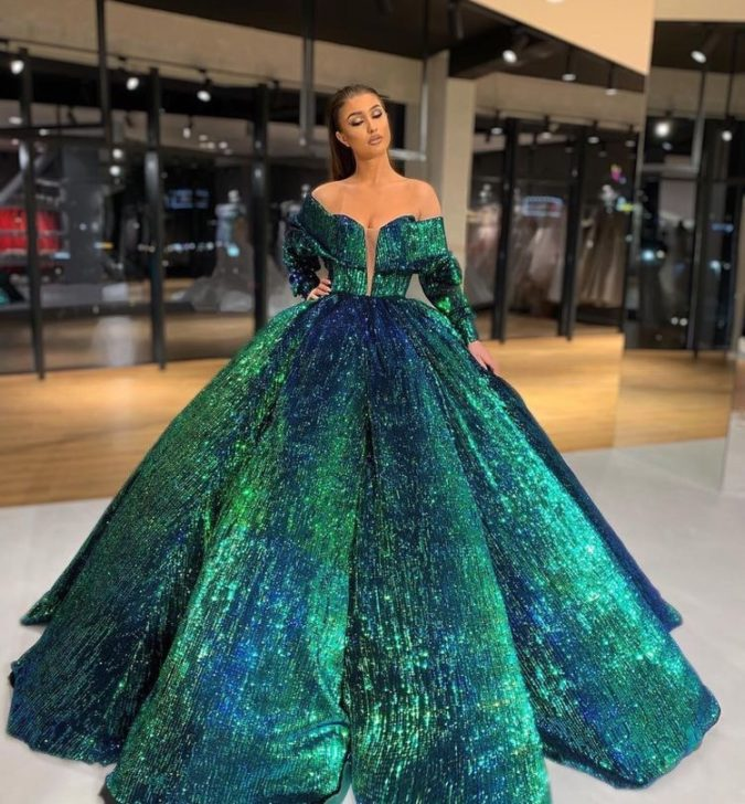 Cinderella-gown-.-675x728 120 Splendid Women's Outfits for Evening Weddings