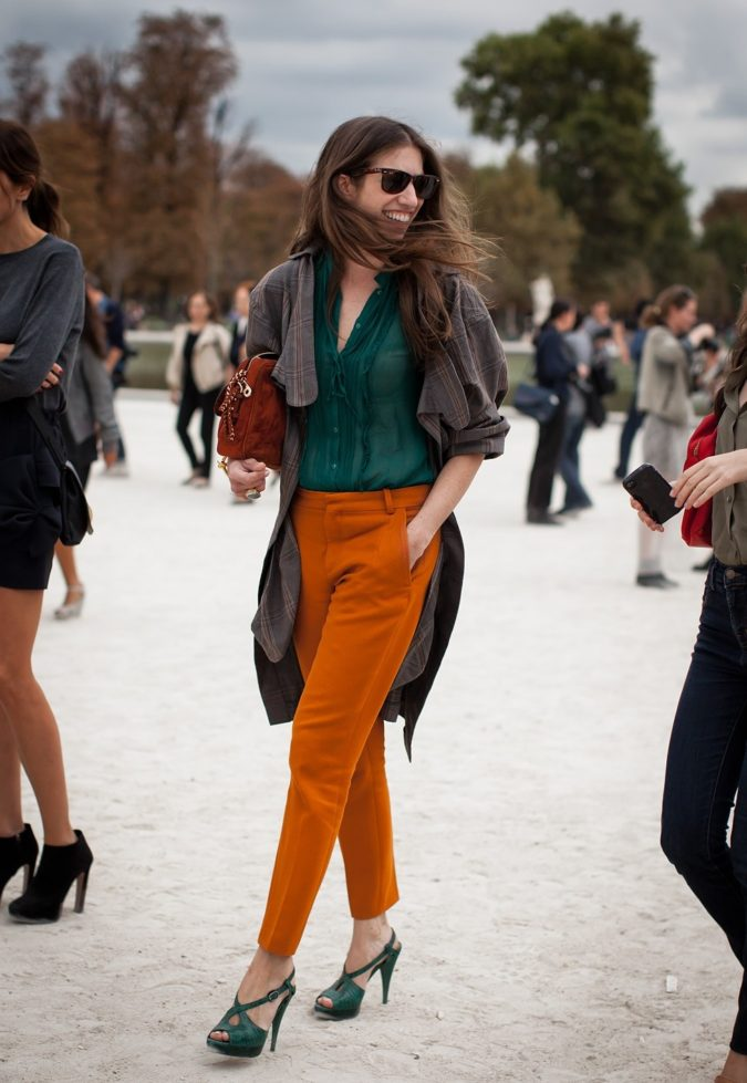 Colored-pants-2-675x979 140 First-Date Outfit Ideas That Make You Special