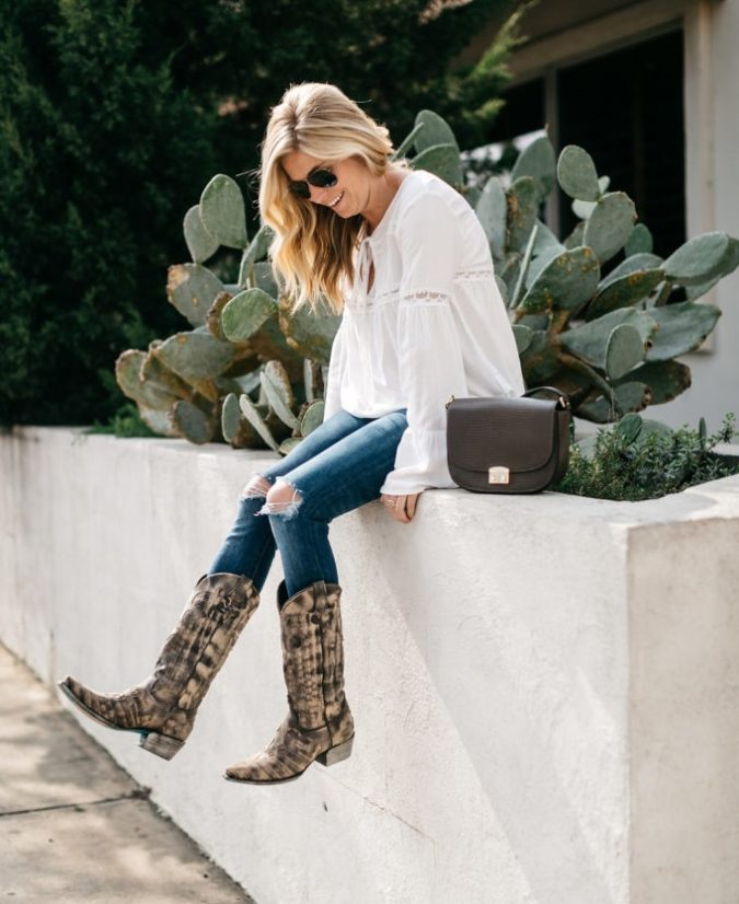 Cowboy-boots-1-675x826 140 First-Date Outfit Ideas That Make You Special