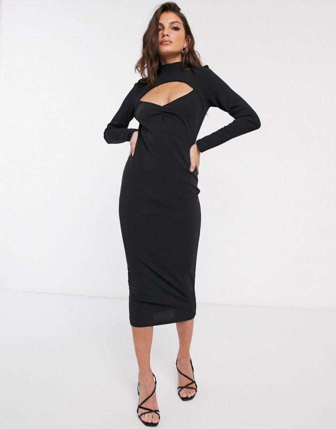 Cut-out-midi-dress.-675x861 120 Splendid Women's Outfits for Evening Weddings
