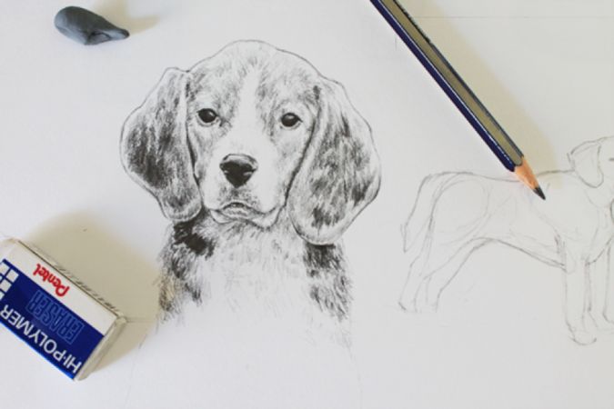 Dog-675x450 Top 10 Coolest Unique Drawing Ideas for Teens
