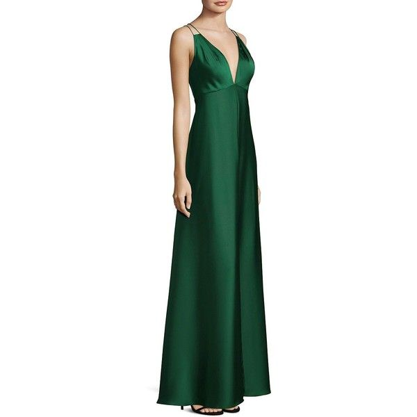 Double-strap-gown-1 120 Splendid Women's Outfits for Evening Weddings