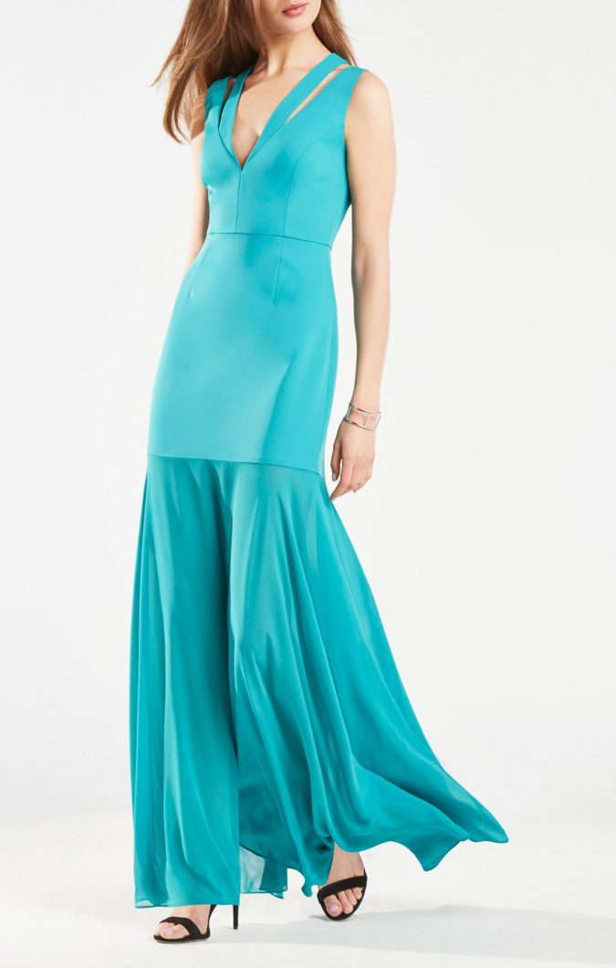 Double-strap-gown..-675x1060 120 Splendid Women's Outfits for Evening Weddings