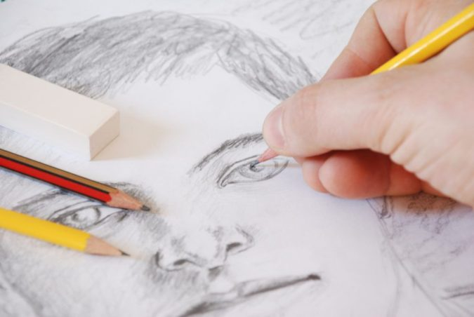 Drawing-a-Realistic-Face.-675x452 How to Draw a Realistic Face Step By Step