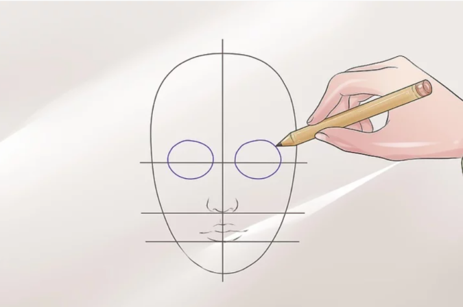 Drawing-the-eye-4-675x448 How to Draw a Realistic Face Step By Step