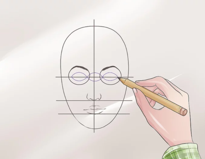 Drawing-the-eye.-2-675x522 How to Draw a Realistic Face Step By Step
