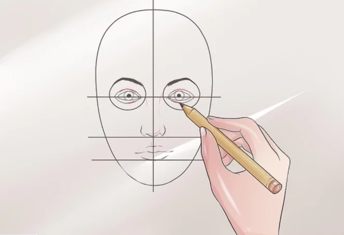 Drawing-the-pupil-1-675x462 How to Draw a Realistic Face Step By Step