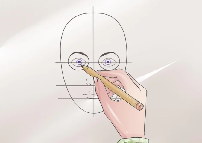 Drawing-the-pupil-675x477 How to Draw a Realistic Face Step By Step
