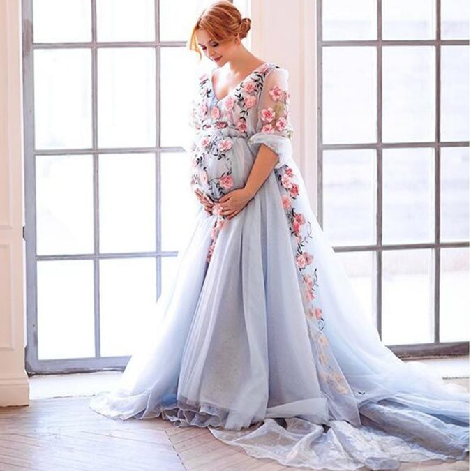 Embroidered-floral-gown..-675x675 120 Splendid Women's Outfits for Evening Weddings