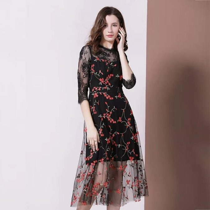 Embroidered-flower-dress-.-675x675 120+ Breathtaking Birthday Party Outfits for Ladies