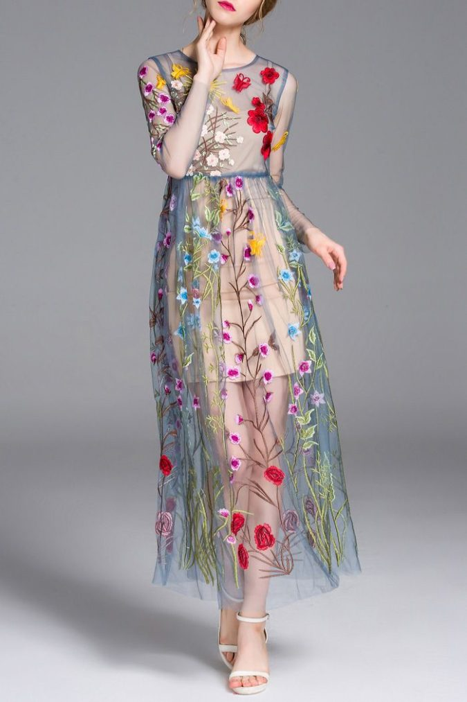 Embroidered-flower-dress-1-675x1013 120+ Breathtaking Birthday Party Outfits for Ladies