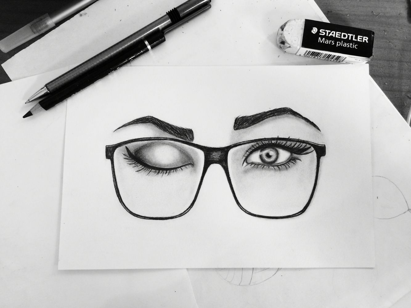 Eye-glasses. Top 10 Easiest Things to Draw