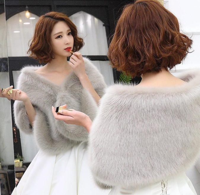 Faux-Fur-Stole.-675x656 140+ Lovely Women's Outfit Ideas for Winter 2020 / 2021