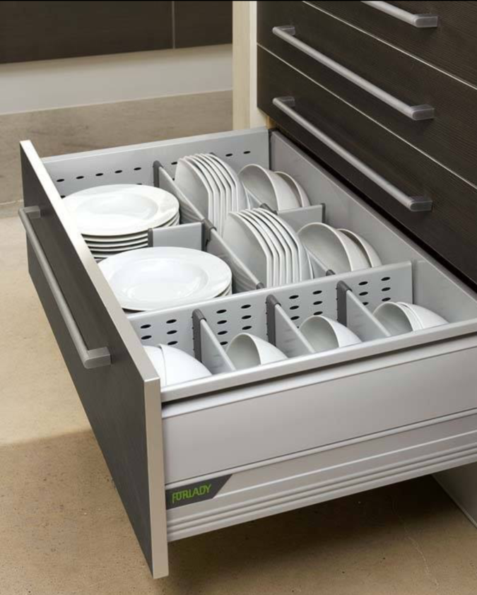 Food-container-drawer-organizer-1-675x842 100+ Smartest Storage Ideas for Small Kitchens in 2021
