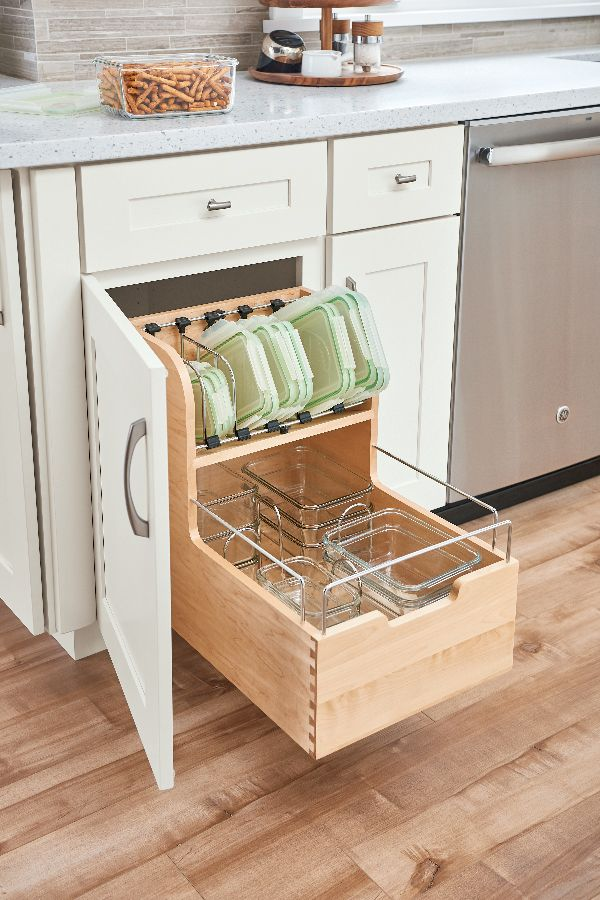 Food-container-drawer-organizer-1 100+ Smartest Storage Ideas for Small Kitchens in 2021