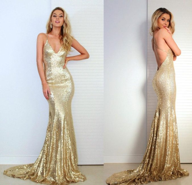 Golden-backless-dress.-1-675x649 120+ Breathtaking Birthday Party Outfits for Ladies