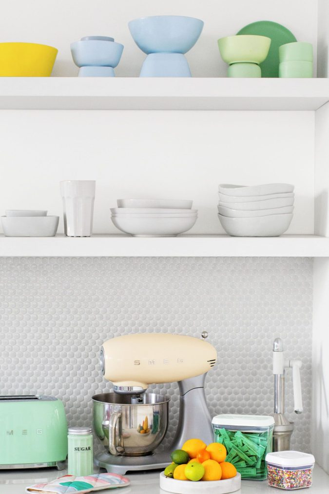 Grouping-by-color.-675x1013 100+ Smartest Storage Ideas for Small Kitchens in 2021
