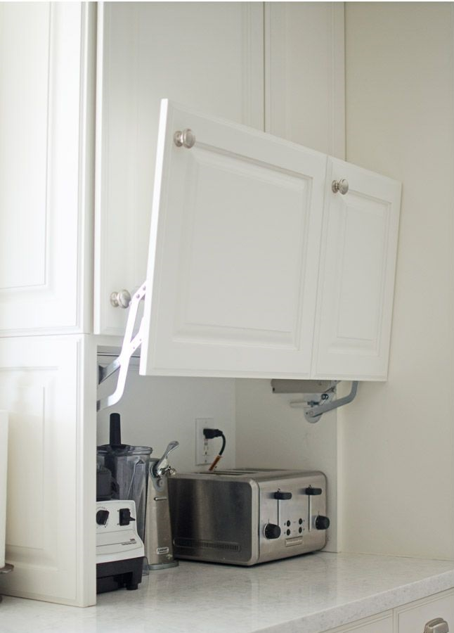 Hiding-appliances.-1 100+ Smartest Storage Ideas for Small Kitchens in 2021