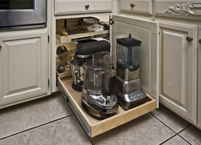 Hiding-appliances..-675x486 100+ Smartest Storage Ideas for Small Kitchens in 2021