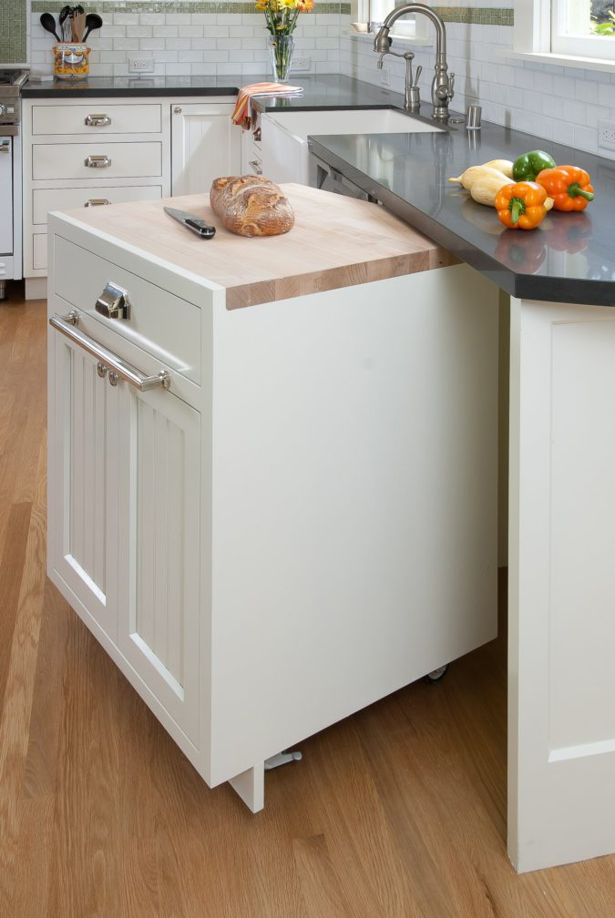 Installation-of-side-out-prep-station-1-675x1008 100+ Smartest Storage Ideas for Small Kitchens in 2021