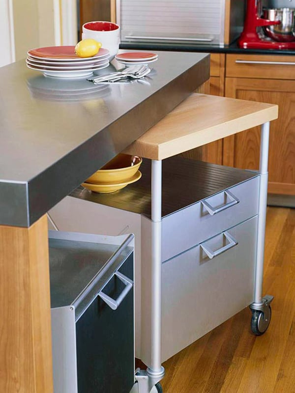Installation-of-side-out-prep-station 100+ Smartest Storage Ideas for Small Kitchens in 2021