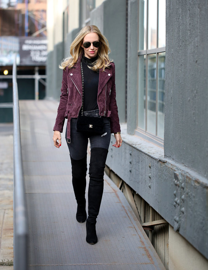 Jacket-and-boots-2-675x879 140+ Lovely Women's Outfit Ideas for Winter 2020 / 2021