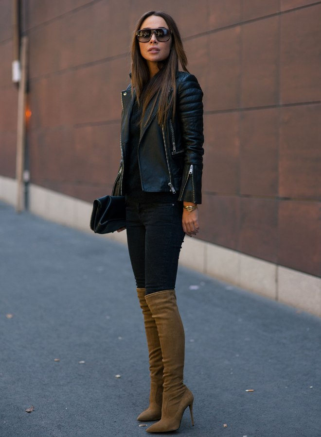 Jacket-and-boots.-1 140+ Lovely Women's Outfit Ideas for Winter 2020 / 2021