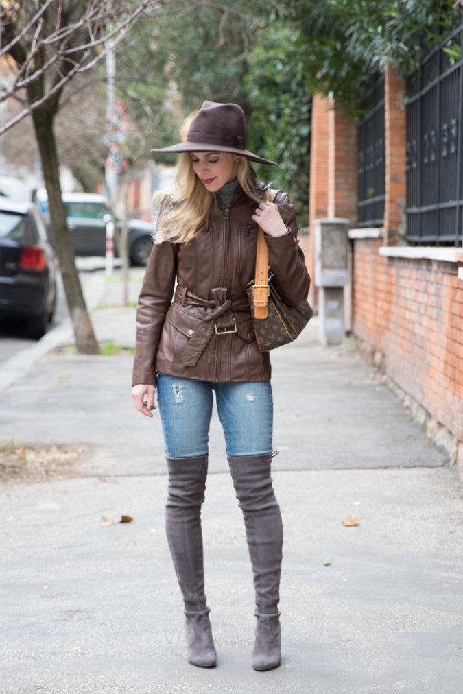 Jacket-and-boots.-675x1012 140+ Lovely Women's Outfit Ideas for Winter in 2021