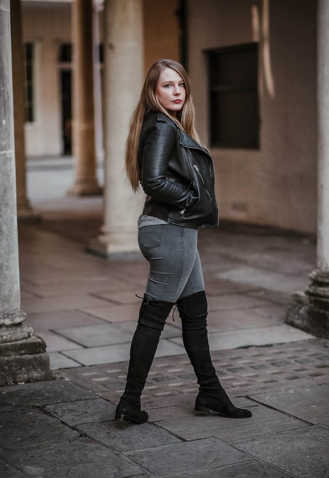 Jacket-and-boots..-1-675x981 140+ Lovely Women's Outfit Ideas for Winter in 2021