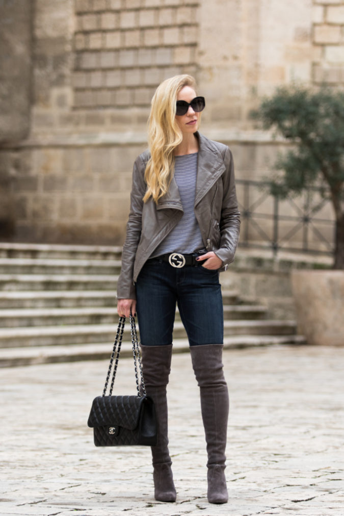 Jacket-and-boots..-2-675x1012 140+ Lovely Women's Outfit Ideas for Winter in 2021