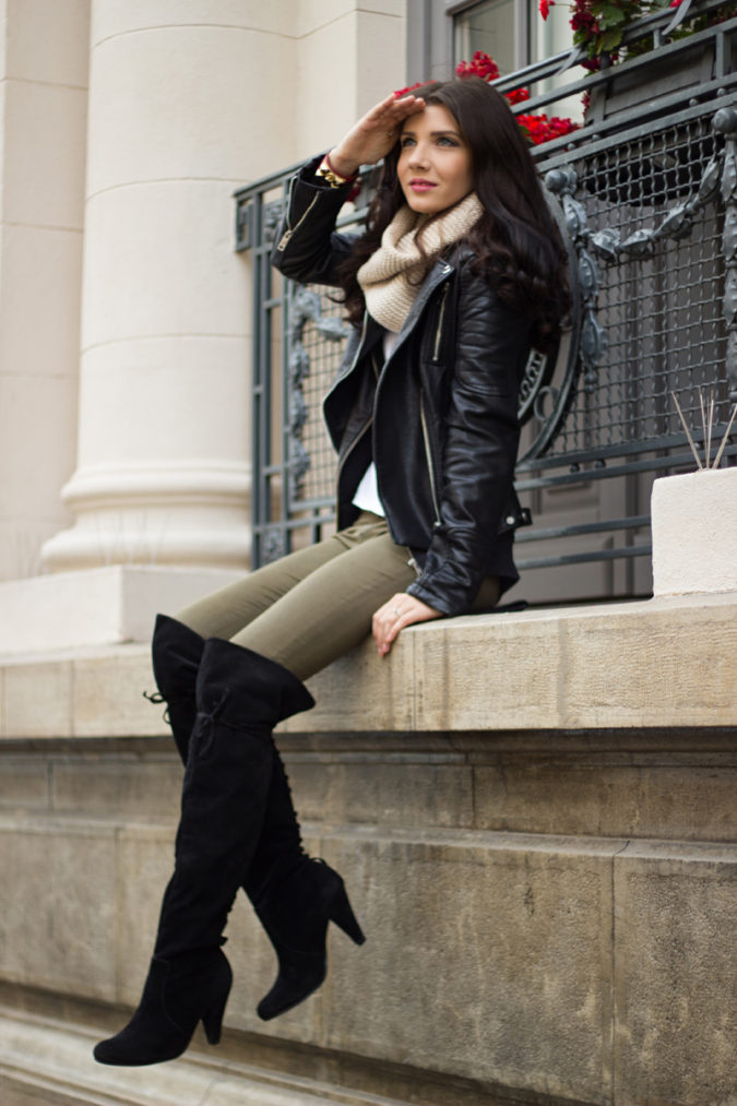 Jacket-and-boots..-675x1013 140+ Lovely Women's Outfit Ideas for Winter in 2021