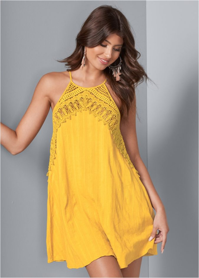 Lace-trim-dress..-1-675x945 120+ Breathtaking Birthday Party Outfits for Ladies