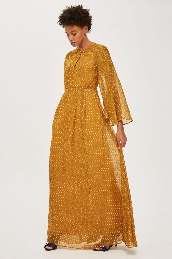 Long-sleeve-maxi-dress-1-675x1013 120 Splendid Women's Outfits for Evening Weddings
