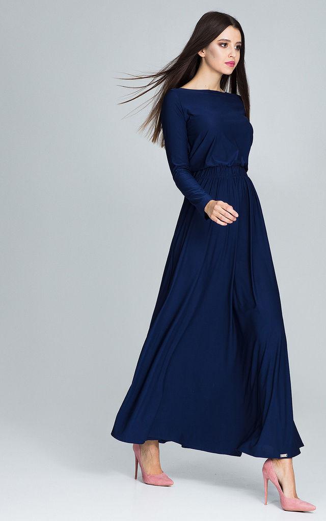 Long-sleeve-maxi-dress-2 120 Splendid Women's Outfits for Evening Weddings