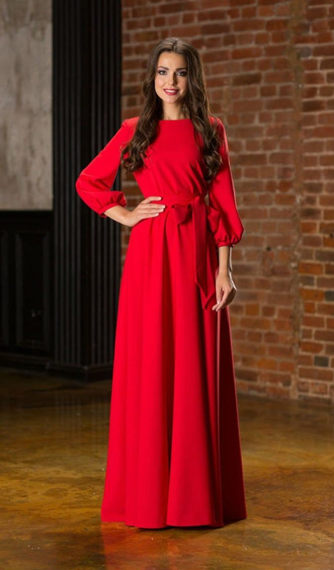 Long-sleeve-maxi-dress.-4-675x1151 120 Splendid Women's Outfits for Evening Weddings