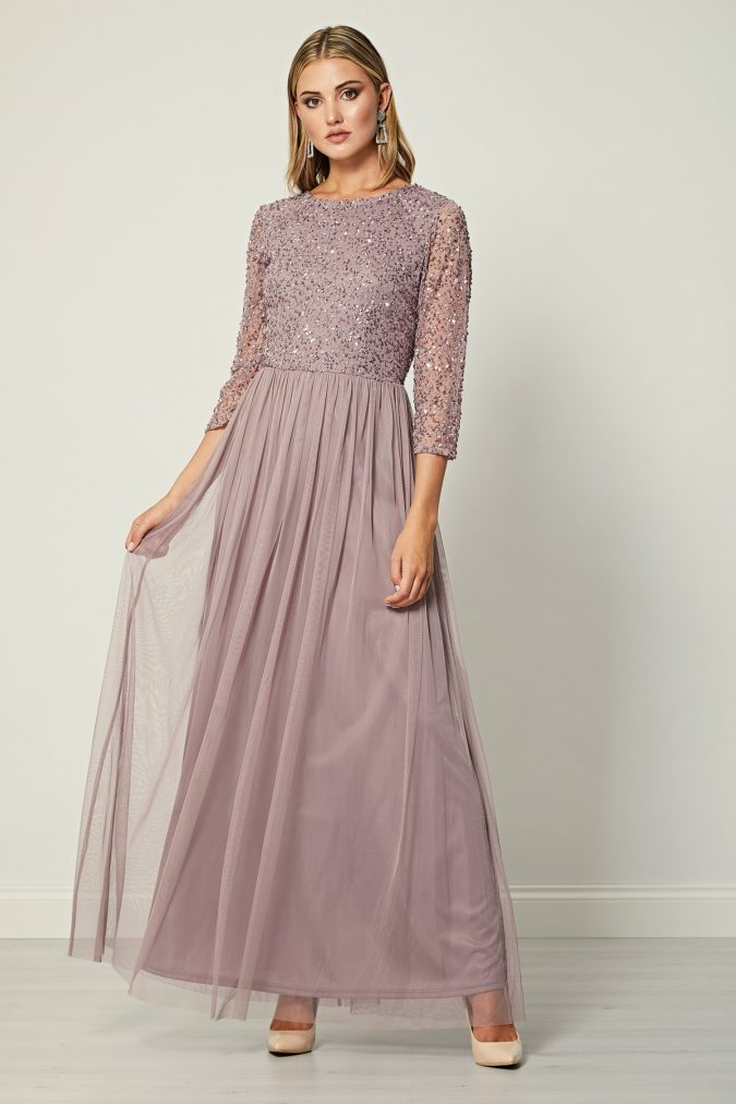 Long-sleeve-maxi-dress..-1-675x1013 120 Splendid Women's Outfits for Evening Weddings