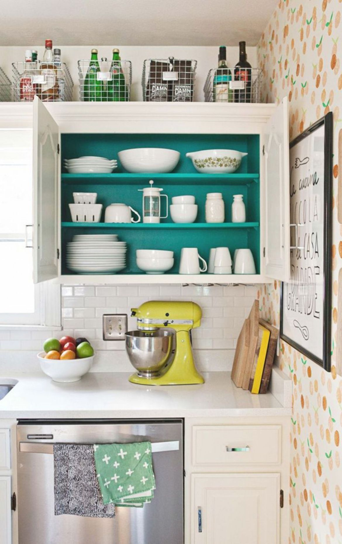 Maximizing-cabinet-top-2 80+ Unusual Kitchen Design Ideas for Small Spaces in 2021